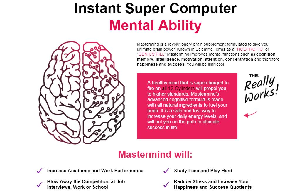 MasterMind Brain Supplement